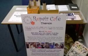 Tiverton Repair Café reception sign