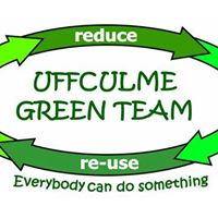 Uffculme Green Team logo. Reduce, reuse, everybody can do something.