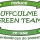 Uffculme Green Team logo. Reduce, reuse, everybody can do something.